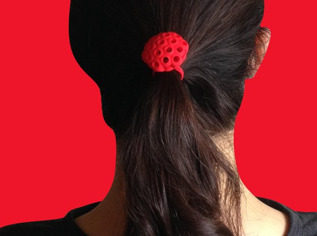 Burbujas Elastic Band in Red Processed Versatile Plastic