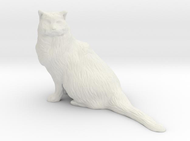 Birman Cat 001 - 150mm in White Natural Versatile Plastic