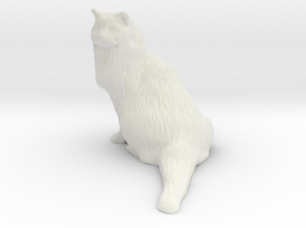 Birman Cat 001 - 250mm in White Natural Versatile Plastic