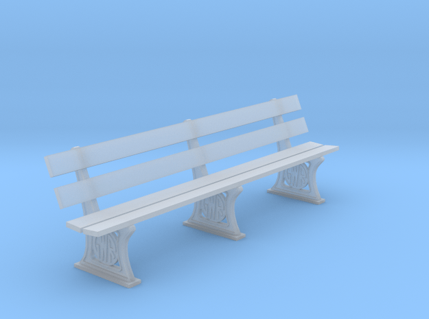 GWR Bench 4mm scale 10ft in Smooth Fine Detail Plastic