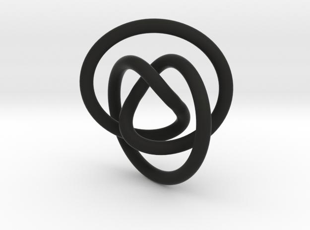 Impossible Knot Pendant in Black Natural Versatile Plastic