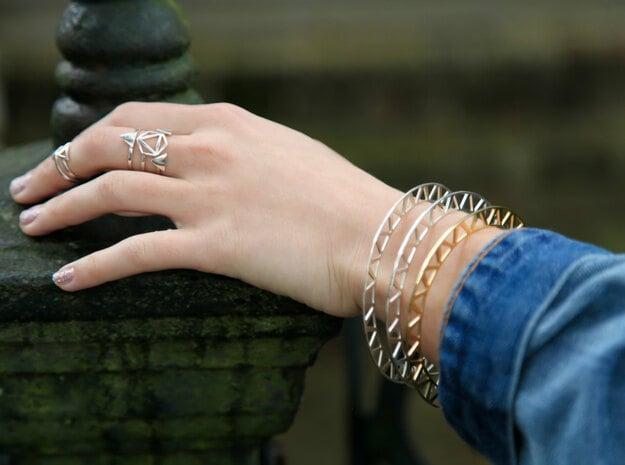 Stackable Bangle Bracelet in Black Natural Versatile Plastic