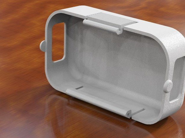 Phantom 2 Door: 19.5mm inner depth - Plain 2 hole in White Natural Versatile Plastic