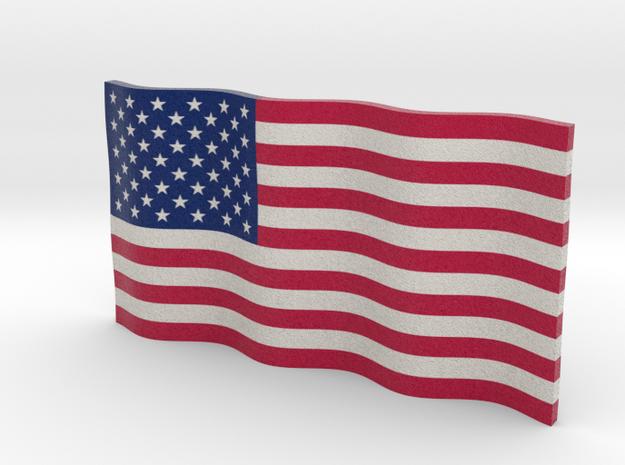 American Flag (Color) in Full Color Sandstone