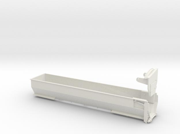 1/64 Belt Trailer Body in White Natural Versatile Plastic