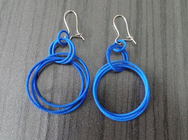 Earrings Loops Smaller - 2 Pcs in White Natural Versatile Plastic
