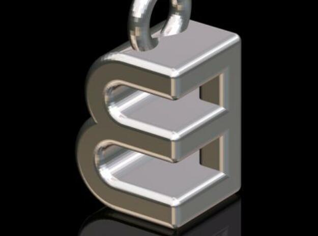 EEB #2 (3-d Logotype) in Polished Bronzed Silver Steel
