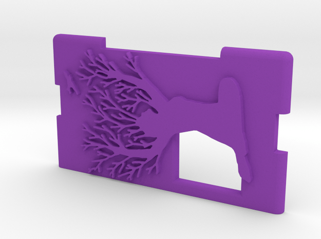 """Kmods Squonker Door mm510  """"Save the forest"""" in Purple Processed Versatile Plastic"""