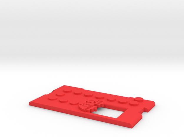 Kmods Pacman Squonker Door  in Red Processed Versatile Plastic