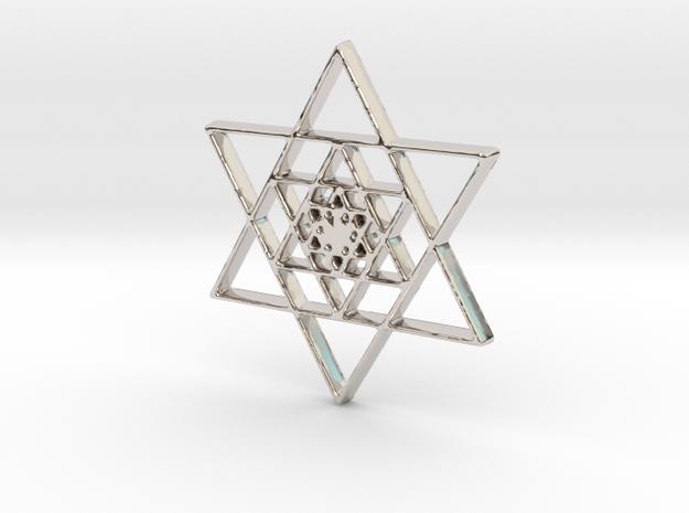 Infinite Jewish Symbol Pendant Charm in Rhodium Plated Brass