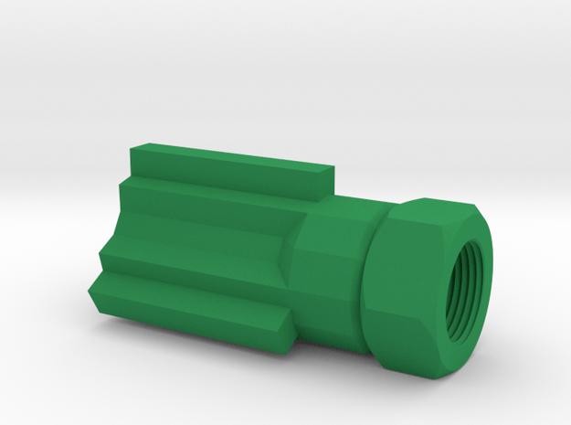 Insanity Airsoft Flash Suppressor (14mm-) in Green Processed Versatile Plastic