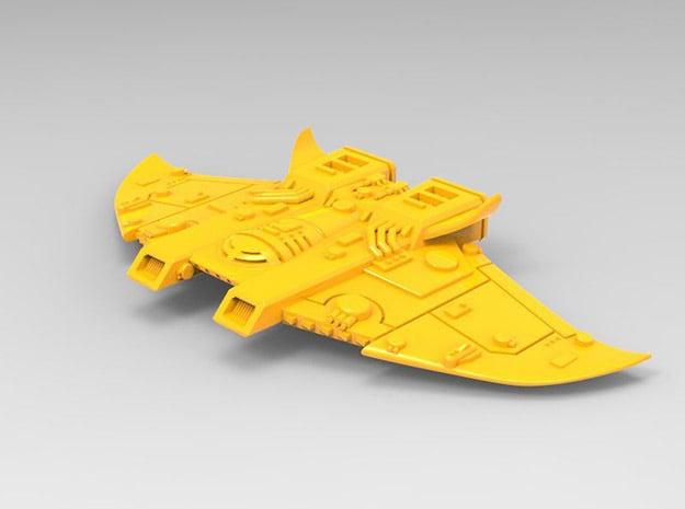 Protectorate Defender MK I, Battlefleet Cruiser se in Yellow Processed Versatile Plastic: Small