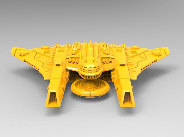 Sheppard MKI Battleship in Yellow Processed Versatile Plastic