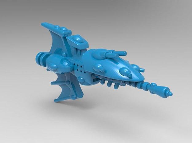 Venenum class Frigate in Blue Processed Versatile Plastic: Small