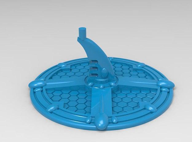 Base for Eldar Battleships in Blue Processed Versatile Plastic