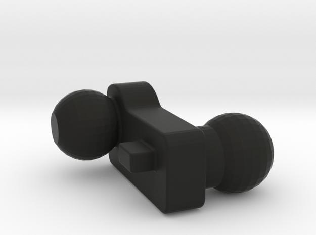 Left arm joint, Warbotron WB-03F Master(Grimlock) in Black Natural Versatile Plastic