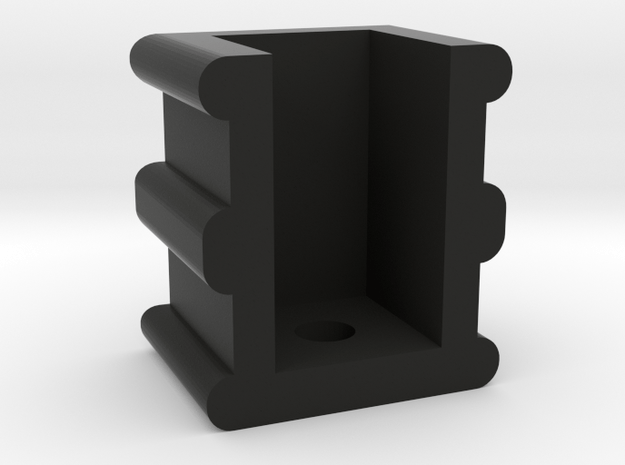 Post Holder Bracket for Climax Class A Wooden Loco in Black Natural Versatile Plastic