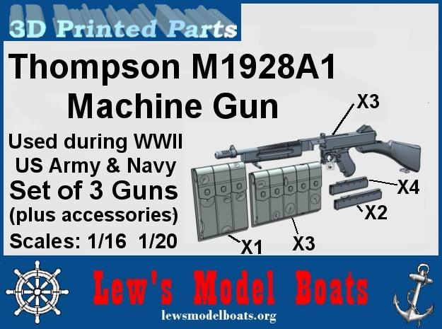 Thompson M1928A machine gun (w/acc) in Smoothest Fine Detail Plastic: 1:20