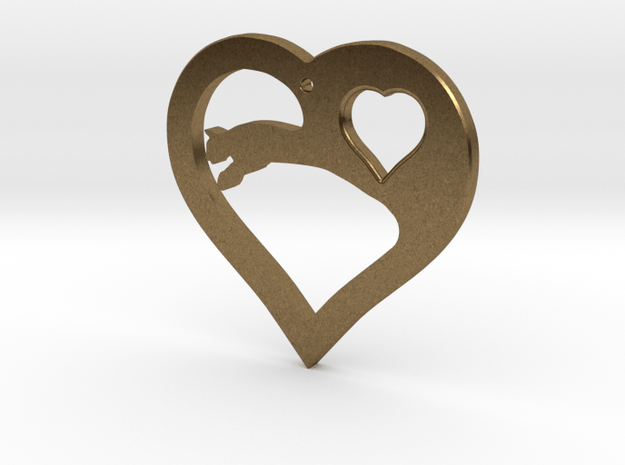 The Eager Heart (precious metal pendant) in Natural Bronze
