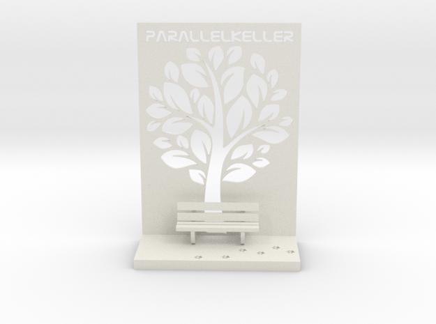 The Parallelkeller book rest in White Natural Versatile Plastic