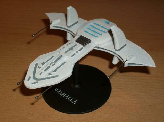 O'Neil battleship in White Natural Versatile Plastic