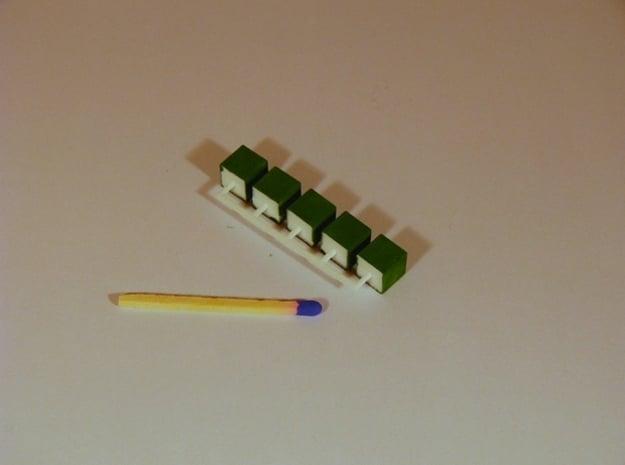 Parkhecke Buchsbaum quadratisch / Würfel 1:120 in White Natural Versatile Plastic