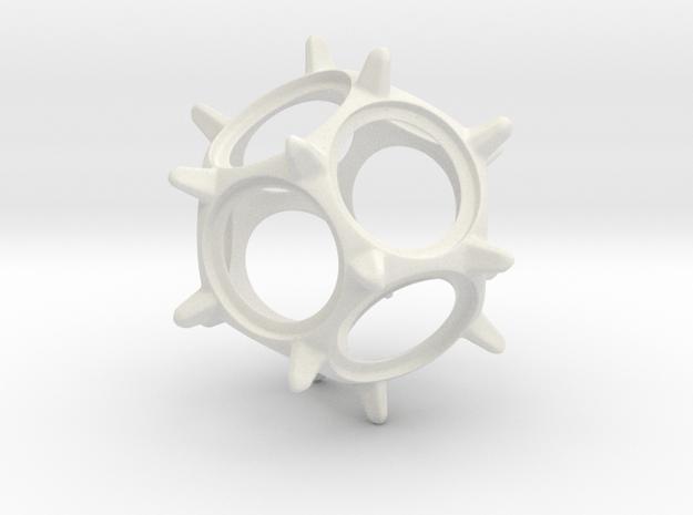 Penny Spinner in White Natural Versatile Plastic