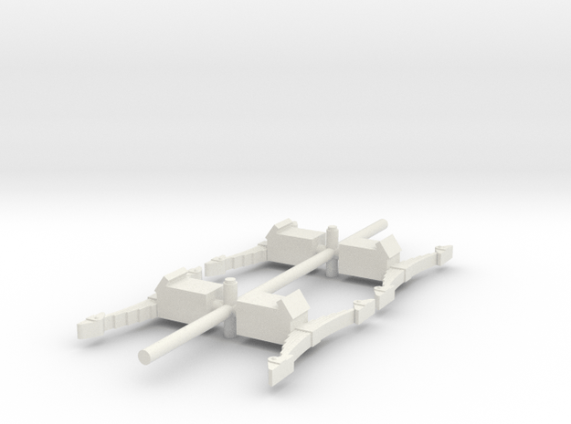 4 square axle boxes  in White Natural Versatile Plastic