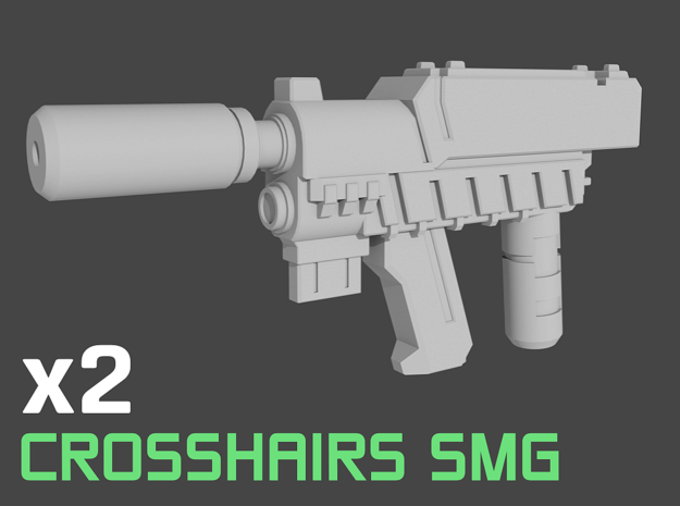 Crosshairs TLK Movie SMGs Transformers 5mm peg in White Natural Versatile Plastic