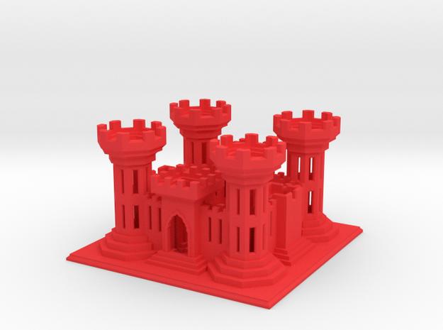 ACOEcastle2 in Red Processed Versatile Plastic