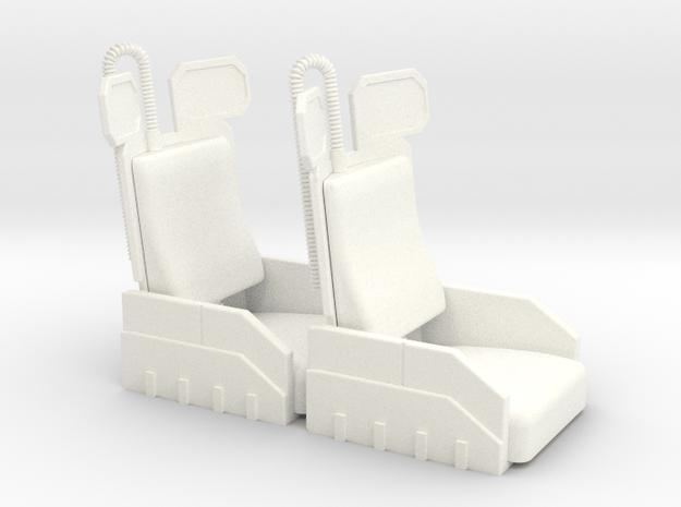 COBRA AERODYNE SEATS in White Processed Versatile Plastic