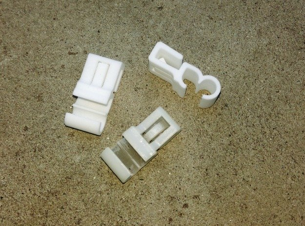 Lancia Delta Beta water pipe Clip in White Processed Versatile Plastic