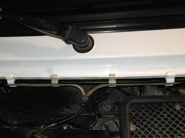 Lancia Delta Beta water pipe Clip SET in White Processed Versatile Plastic