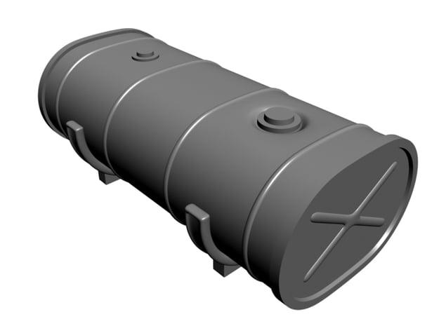 1/25 oblong fuel tank w/brackets in Smooth Fine Detail Plastic
