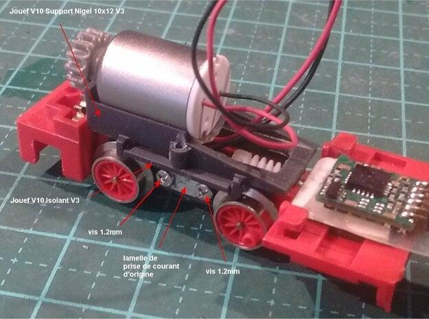 HOe - Jouef V10 Support Nigel 10x12 V3 in Smooth Fine Detail Plastic