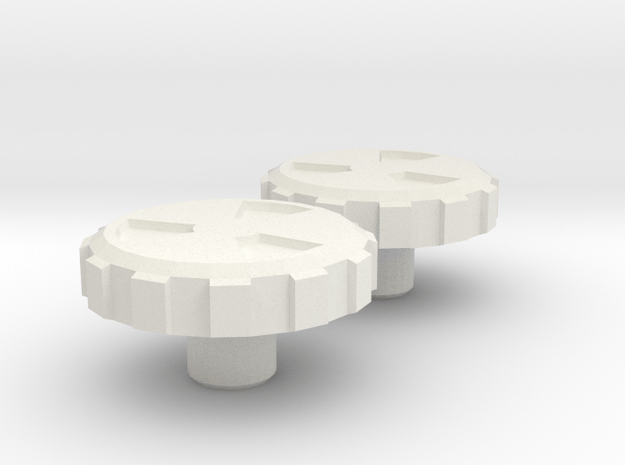 Percy Knobs in White Natural Versatile Plastic