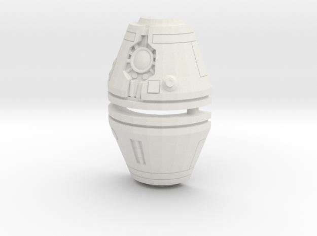 Assassin Robot Head in White Natural Versatile Plastic