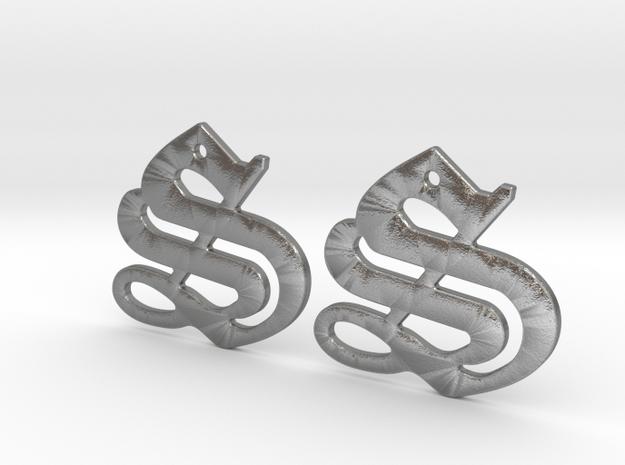 SISU (precious metal earrings) in Natural Silver