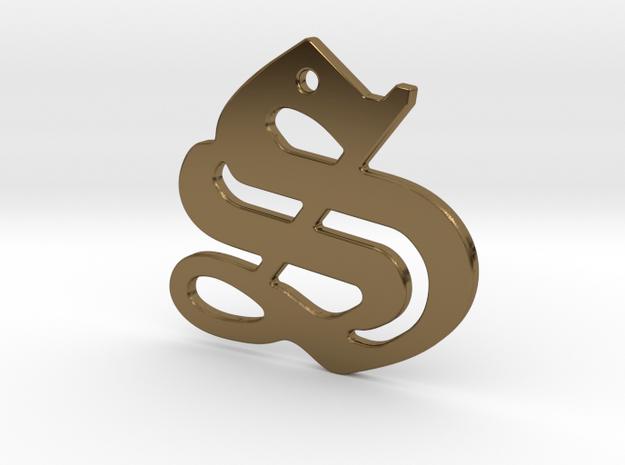 SISU (precious metal pendant) in Polished Bronze