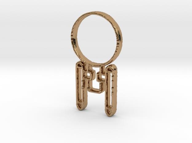 Enterprising Pendant in Polished Brass