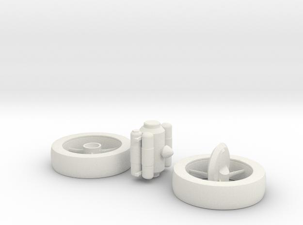 1/1000 Scale NASA Enterprise Concept in White Natural Versatile Plastic