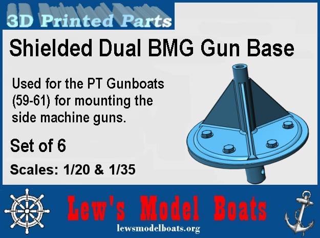 PT Gunboat Side BMGs Base in White Natural Versatile Plastic: 1:20