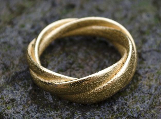 Torusring (19 mm) in Polished Gold Steel
