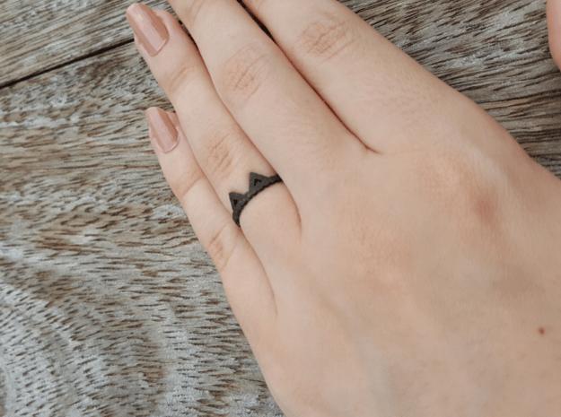 Cat Ear Bubbles Ring  in White Natural Versatile Plastic: 6 / 51.5