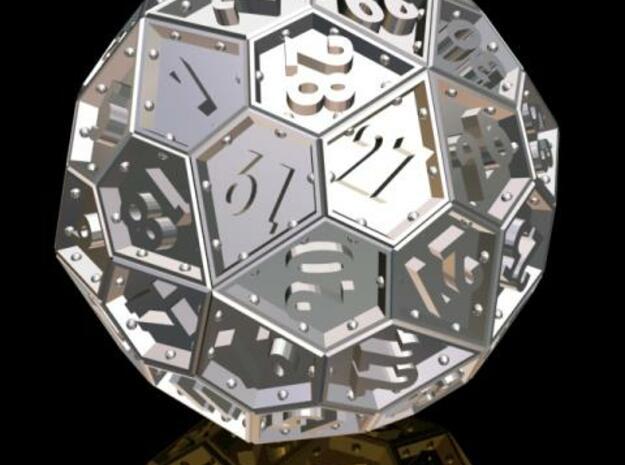 The Rosetta Dice #1 (60) in White Processed Versatile Plastic