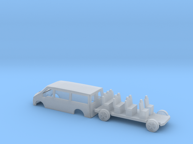 N Gauge Transit Mini Bus in Smooth Fine Detail Plastic