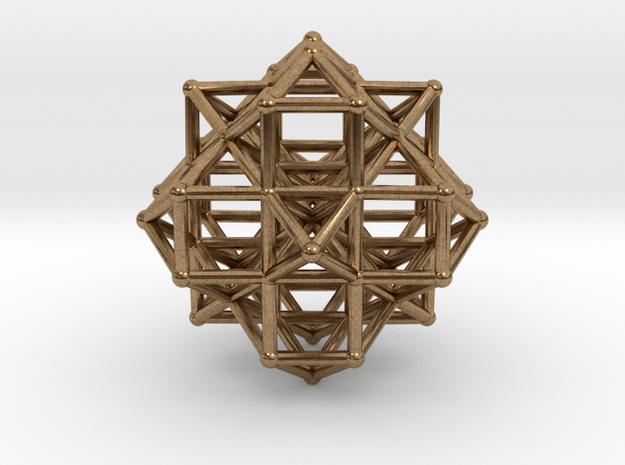 Vector Equilibrium Cluster 8VE 7Octa 50mm  in Natural Brass
