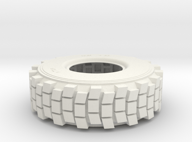 1/6 HEMTT TIRE  in White Natural Versatile Plastic