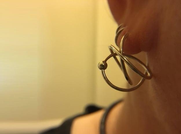 Hoop Knot Earring in Polished Silver