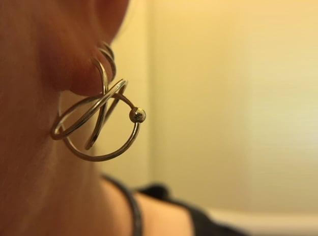 Hoop Knot Earring - Mirror Image